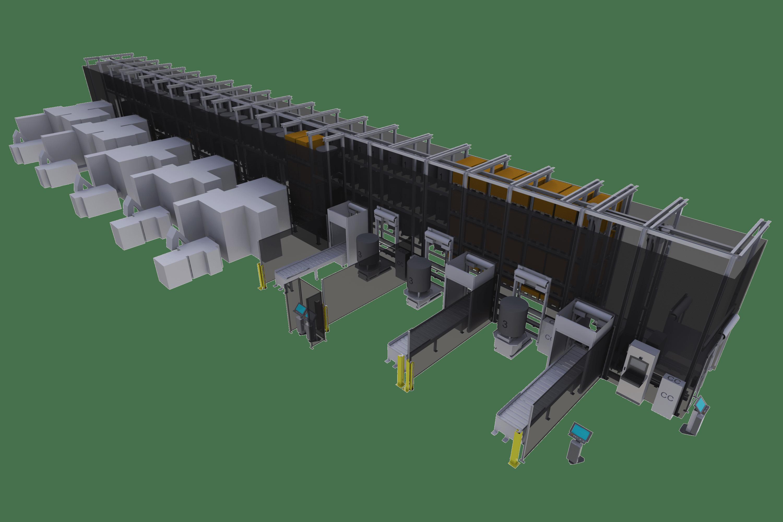 MLS ist ein maßgeschneidertes Flexibles Fertigungssystem (FFS) für die automatisierte CNC-Produktion.