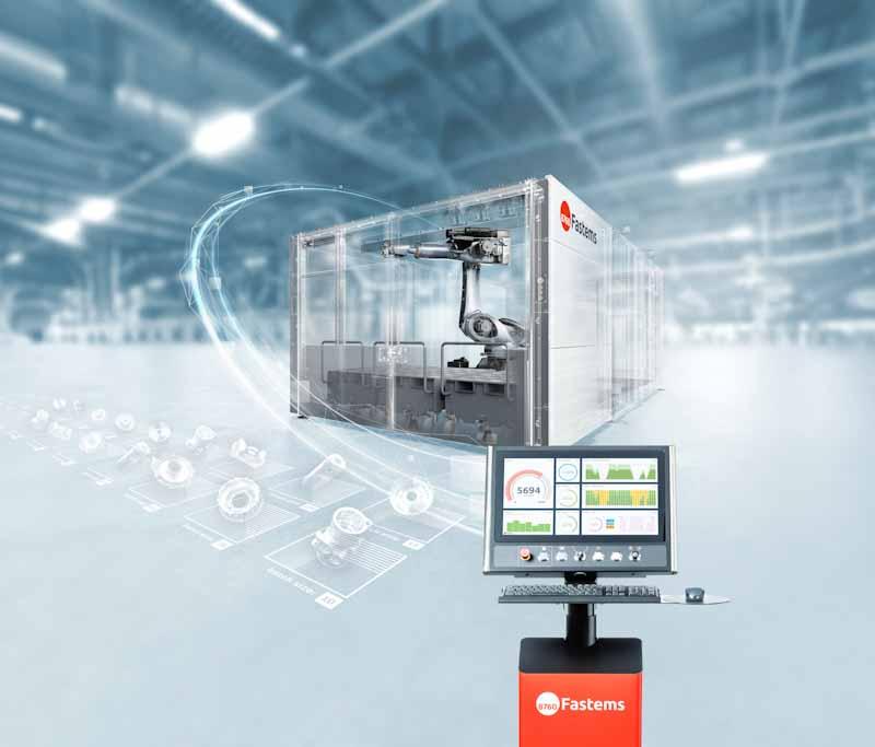 Roboterzelle für schwerere Werkstücke in verschiedenen Losgrößen